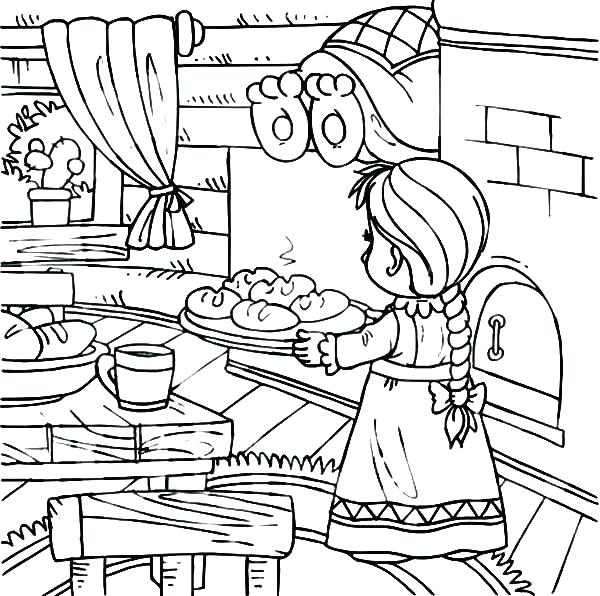 600x596 Kitchen Coloring Pages Kitchen Coloring Pages Safety Coloring