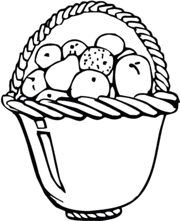 600x737 Apple Basket For Dining Table Coloring Pages Best Place To Color