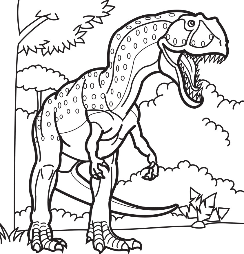 842x877 Dino Coloring Pages