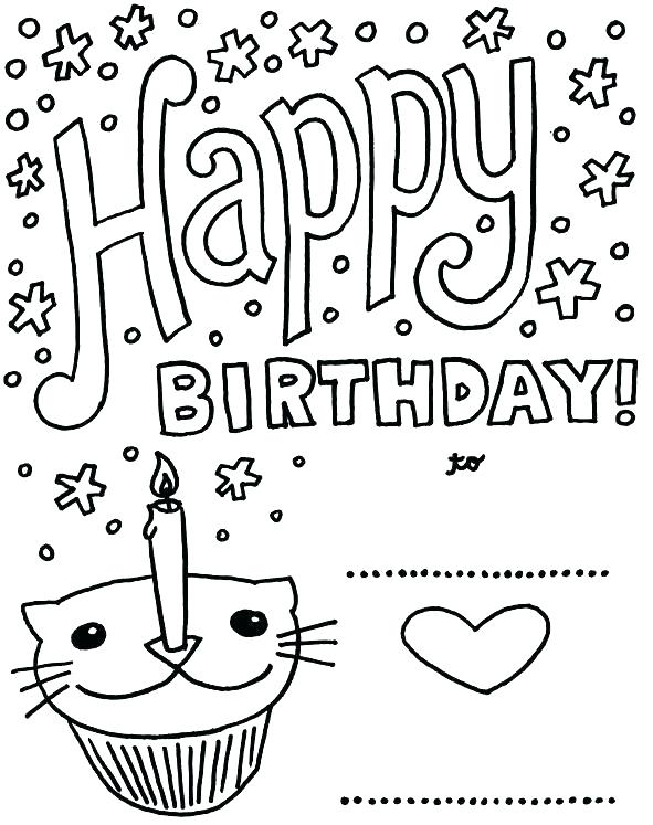 591x747 Coloring Page Birthday Card Birthday Card Coloring Pages Coloring