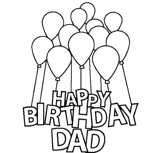 518x492 Happy Birthday Card Printable Pdf Coloring Pages