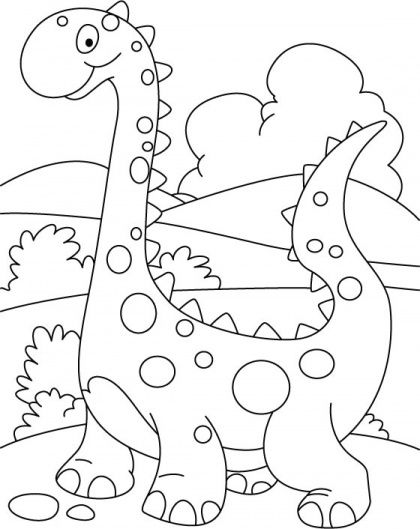420x529 Top Free Printable Unique Dinosaur Coloring Pages Online