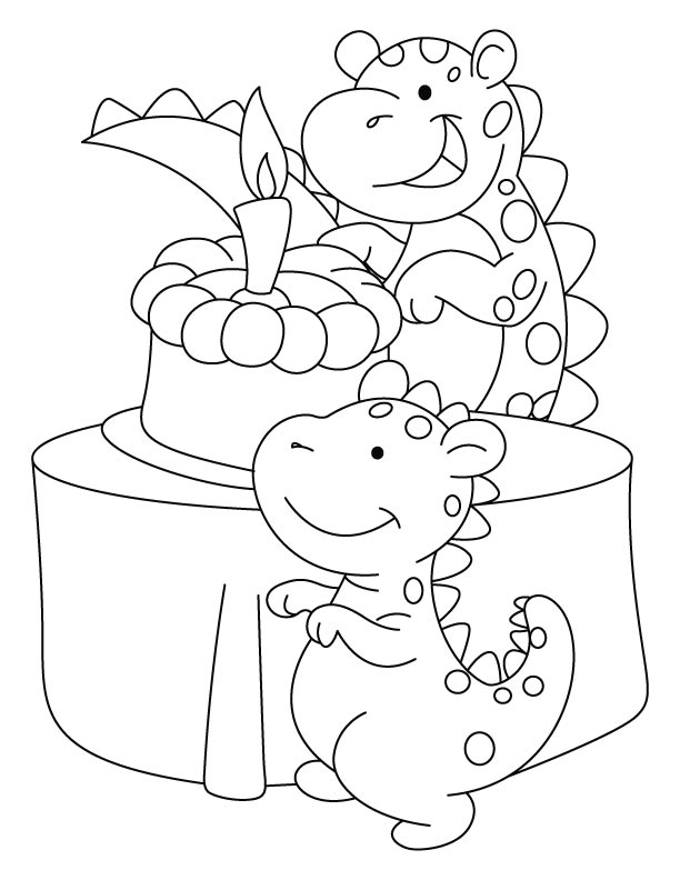 image about Dinosaur Birthday Card Printable identified as Dinosaur Birthday Coloring Internet pages at  Cost-free