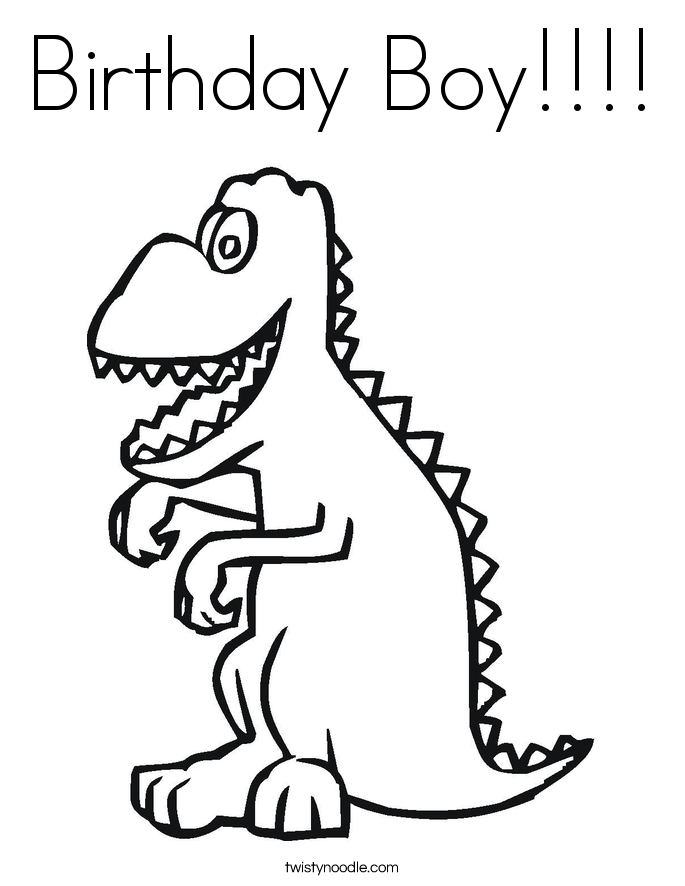 685x886 Birthday Boy Coloring Page