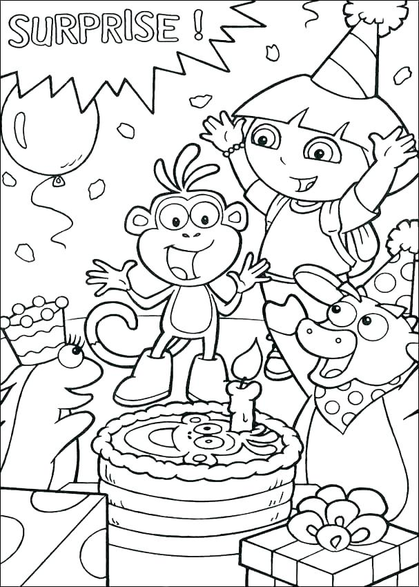 607x850 Birthday Card Coloring Pages Coloring Page Birthday Card Birthday
