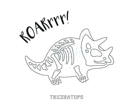 450x353 Dinosaur Skeleton Coloring Pages Dinosaur Bones Coloring Pages