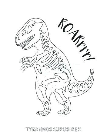 353x450 Skeleton Outline Drawing Fossil Of A Triceratops Skeleton Outline