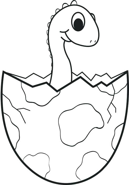 490x700 Dinosaur Color Page