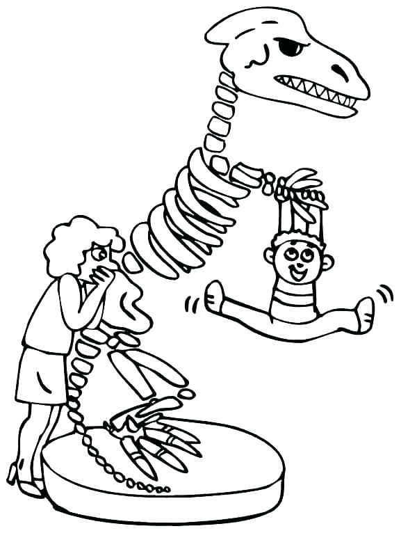 600x776 Dinosaur Fossil Coloring Pages Deepart