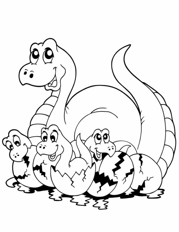 612x792 Dinosaur Coloring Pages