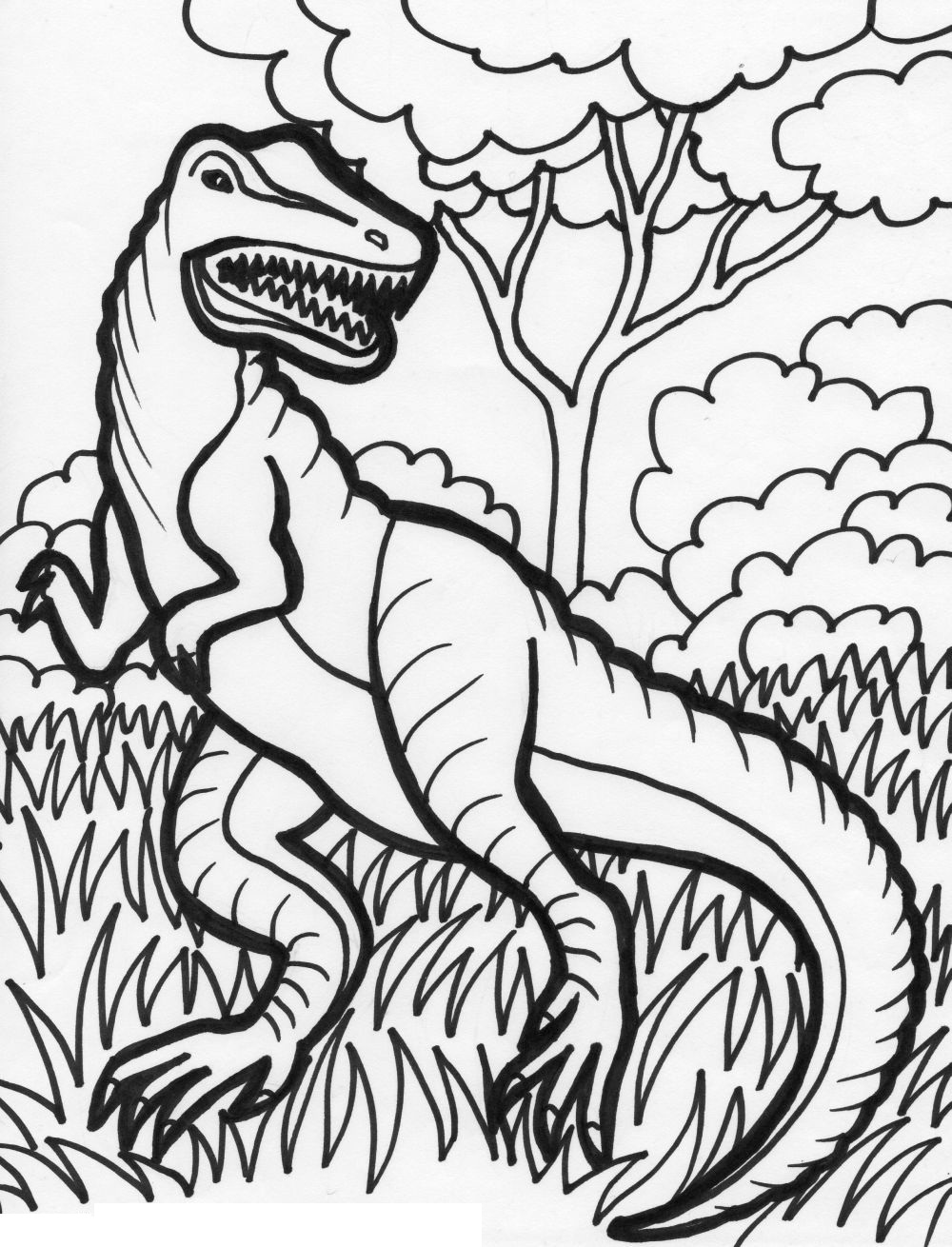 1000x1310 Simple Dinosaurs Coloring Pages At Free Dinosaur Coloring Pages