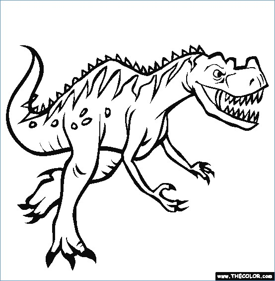 554x565 Velociraptor Dinosaur Coloring Pages