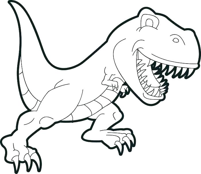 700x605 Coloring Page Dinosaur