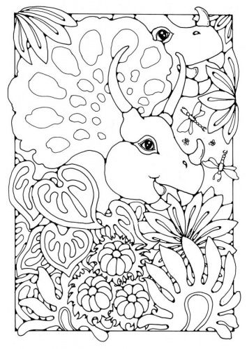 354x500 Best Coloring Pages Dinosaurs Dragons Images