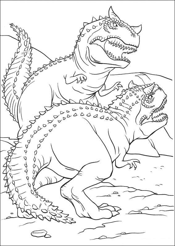 567x794 Fighting Dinosaur Coloring Pages Coloring Page For Kids Kids