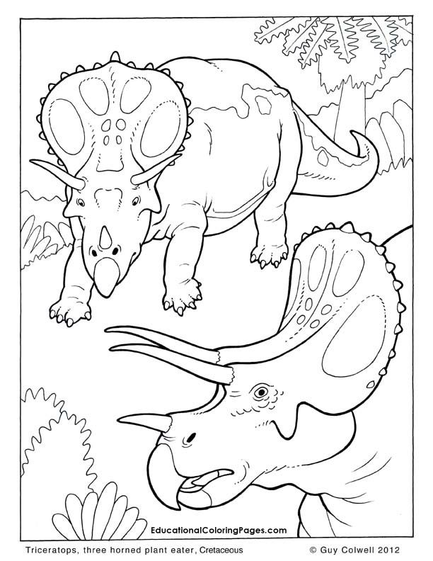 612x792 Triceratops Coloring Pages, Dinosaur Colouring Pages These Are