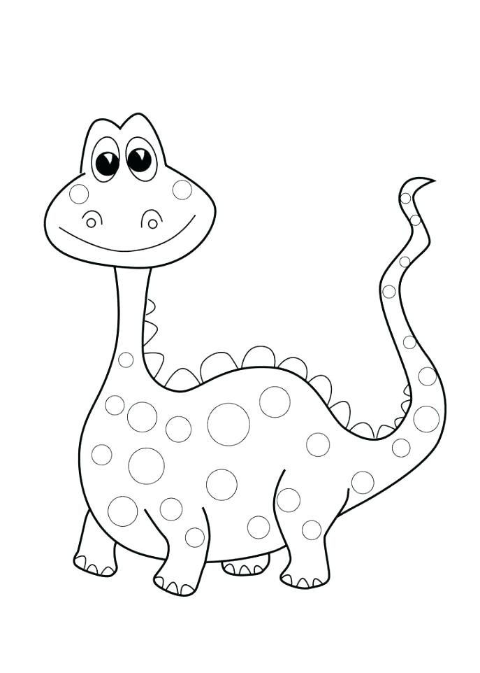 687x962 Dinosaur Color Pages Free Dinosaur Coloring Pages As Well As