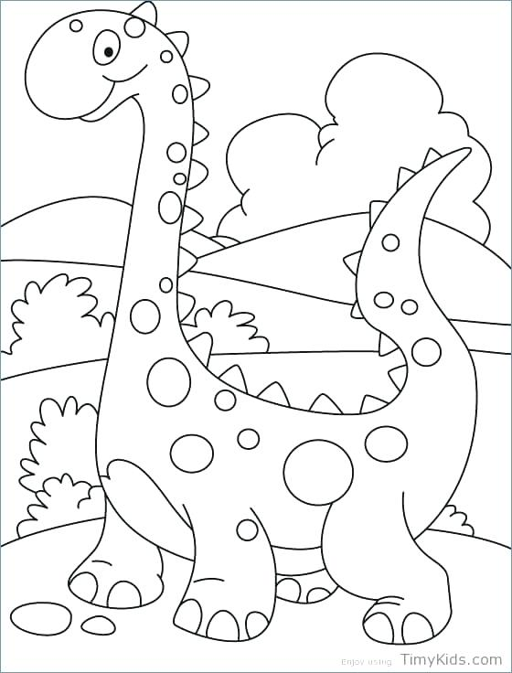 560x736 Dinosaurs Coloring Pages Happy Cute Dinosaurs Coloring Pages