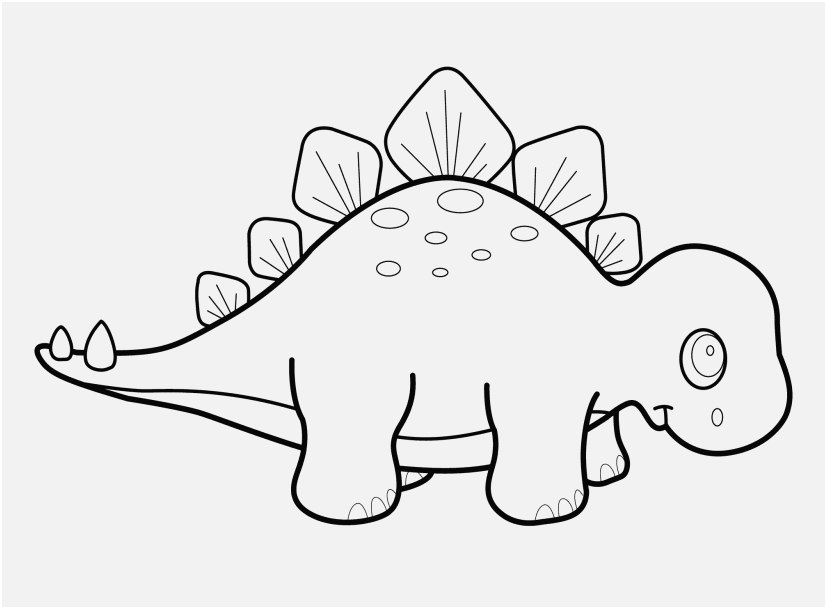 Dinosaur Coloring Pages For Kindergarten