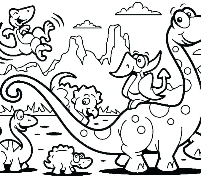 678x600 Coloring Pages For Kindergarten Dinosaur Coloring Pages Preschool