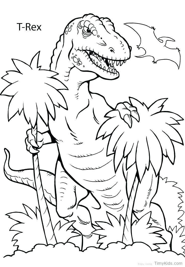 736x1061 Free Printable Realistic Dinosaur Coloring Pages Preschool Explore