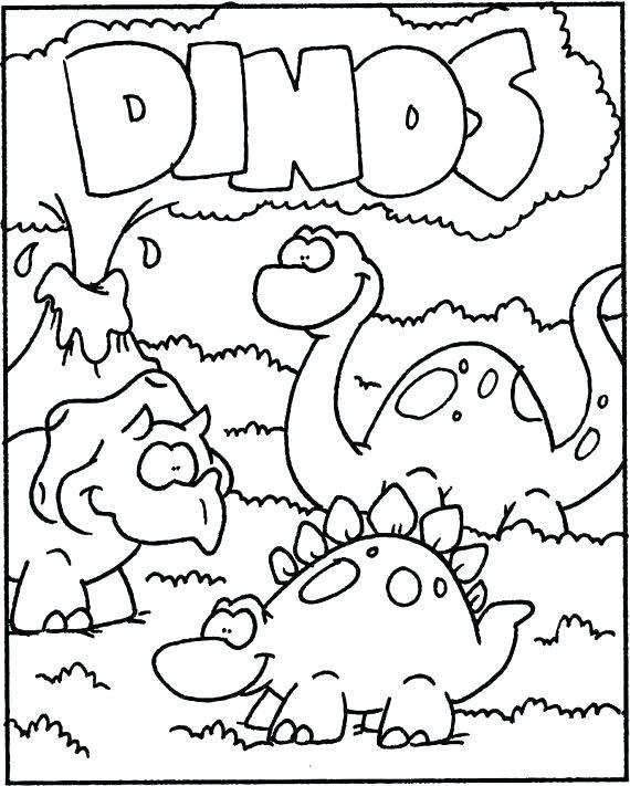 570x711 Preschool Dinosaur Coloring Pages Preschool Dinosaur Coloring
