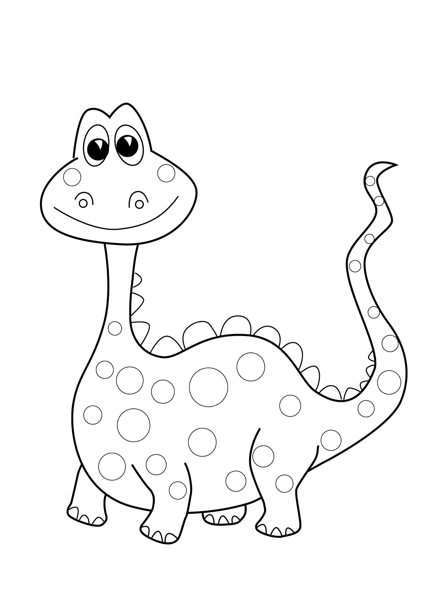 1483x2079 Preschool Dinosaur Coloring Pages Printable