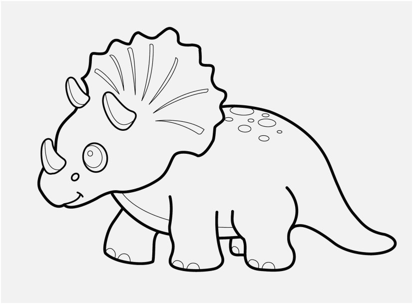827x609 Dinosaurs Coloring Pages Pic Funny Dinosaur Triceratops Cartoon