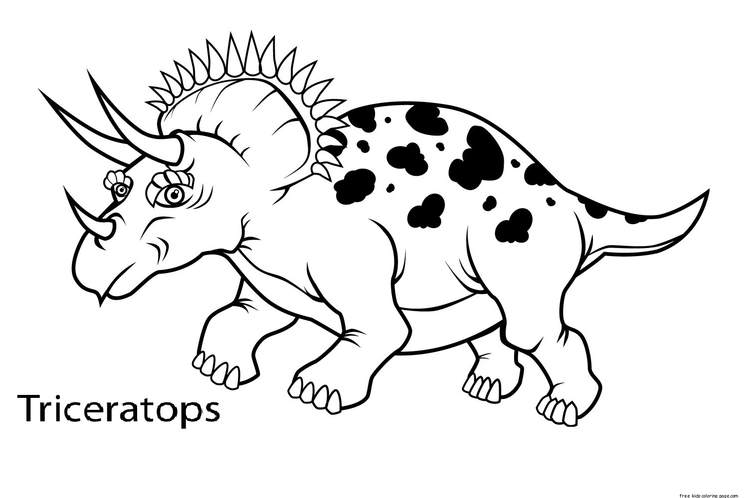 1500x1000 Coloring Pages Dinosaur Coloring Pages With Names