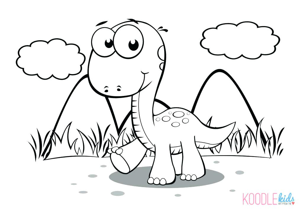 1024x726 Captivating Heart Color Page Perfect Baby Dinosaur Coloring Page