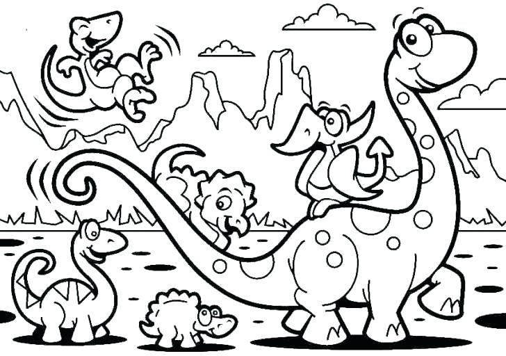 728x512 Cartoon Coloring Page Cartoon Coloring Page Dinosaur Coloring