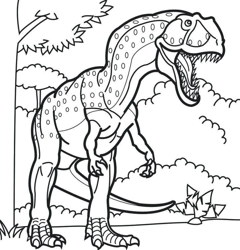 842x877 Dinosaurs Coloring Pages Free