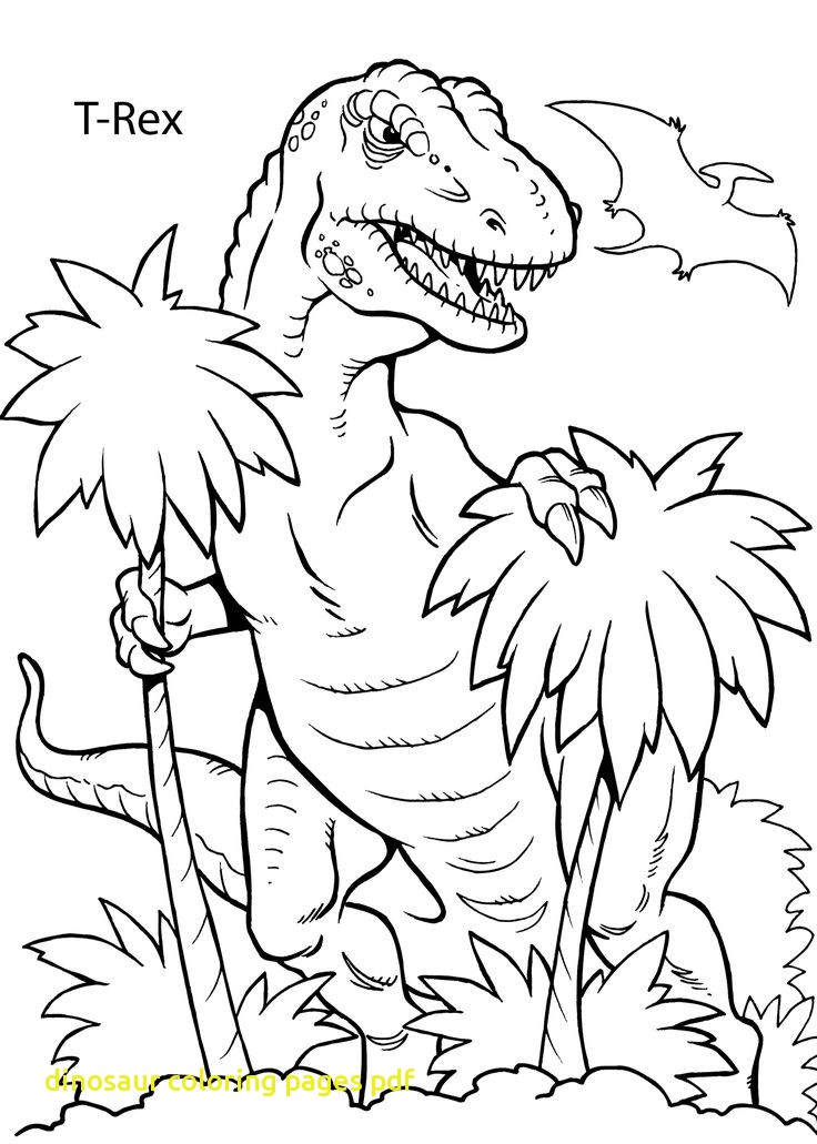 736x1031 Dinosaur Coloring Pages Pdf With Best Dinosaur Coloring Pages