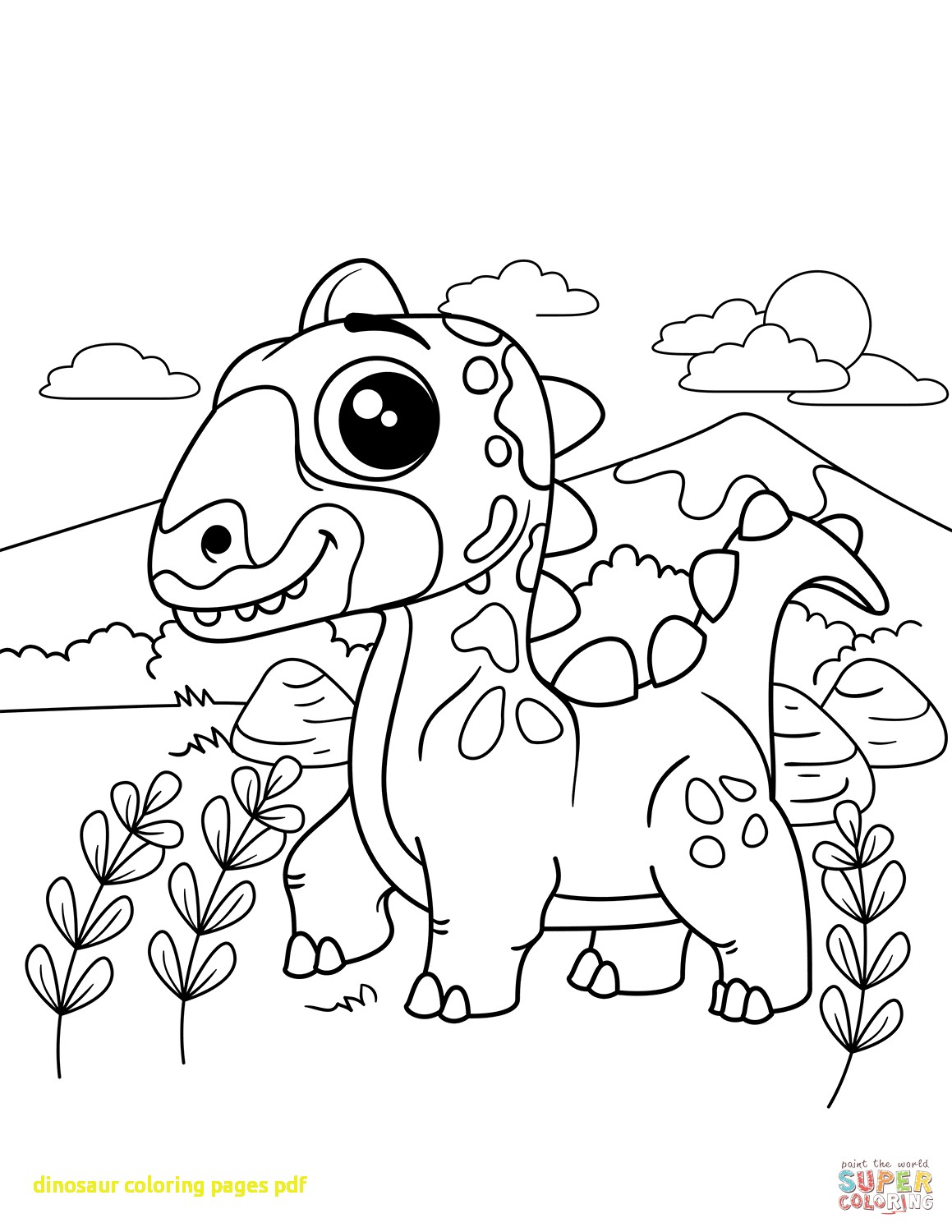 1159x1500 Dinosaur Coloring Pages Pdf With Dinosaurs Coloring Pages
