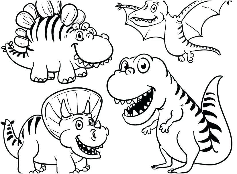 827x609 Dinosaurs Coloring Pages Pdf Dinosaur Coloring Pages Printable