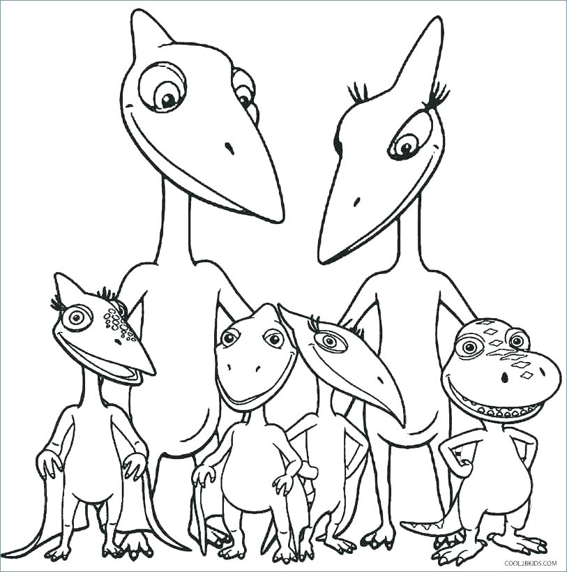 813x820 Easy Dinosaur Coloring Pages For Coloring Book Page Cartoon