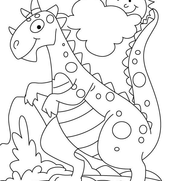 560x600 Dinosaur Coloring Pages Preschool Coloring Pages