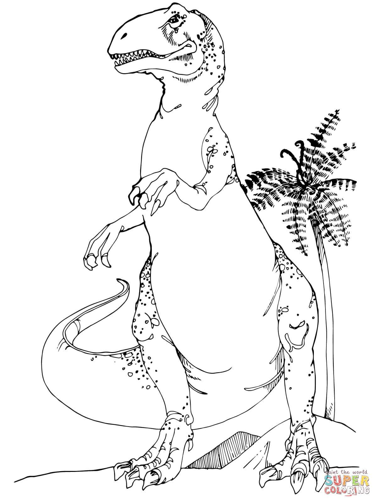 1200x1600 Fascinating Allosaurus Jurassic Dinosaur Coloring Page Printable