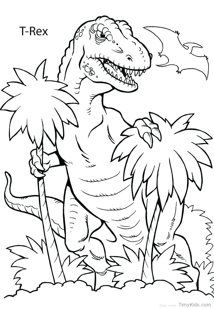 736x1061 Free Printable Realistic Dinosaur Coloring Pages Preschool Explore