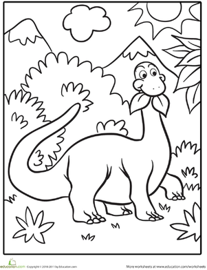 301x391 Cute Dinosaur Coloring Page Google, Searching And Preschool Dinosaur