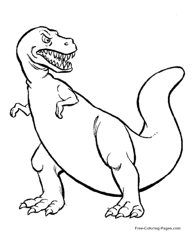 400x490 Dinosaur Coloring Pages