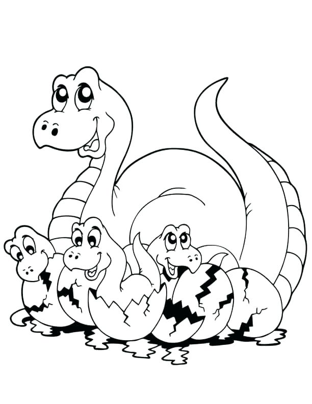 612x792 Dinosaur Printable Coloring Pages Baby Dinosaur Coloring Page