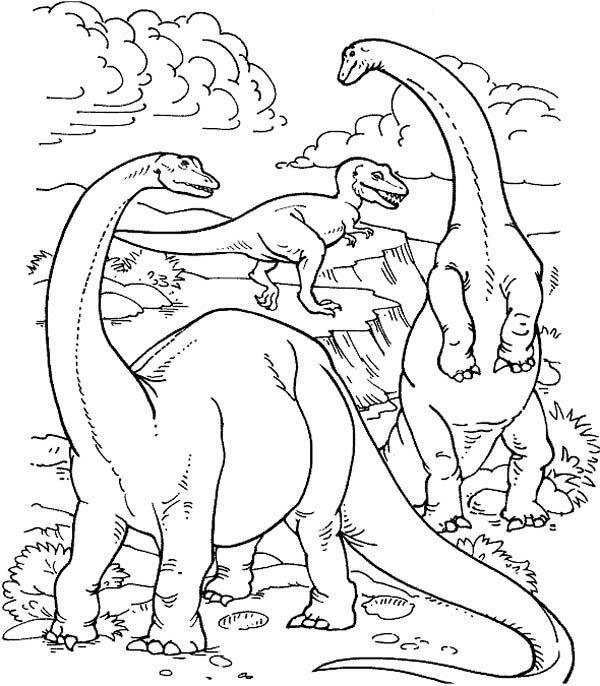 600x686 Realistic Dinosaurs Life In Their Prime Ages In Dinosaur Coloring