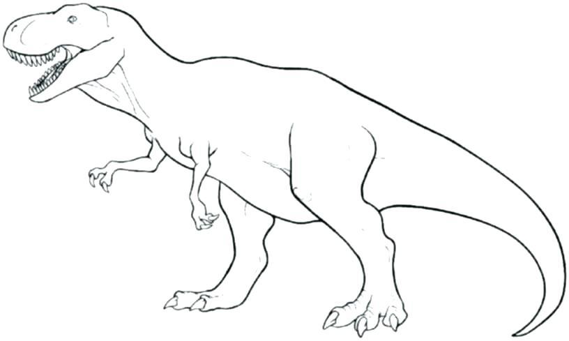 816x489 Tyrannosaurus Rex Coloring Pages Printable Dinosaur Happy Face