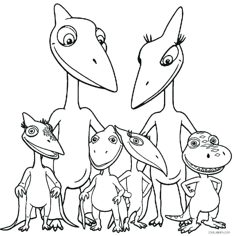 813x820 Printable Color Pages Dinosaur