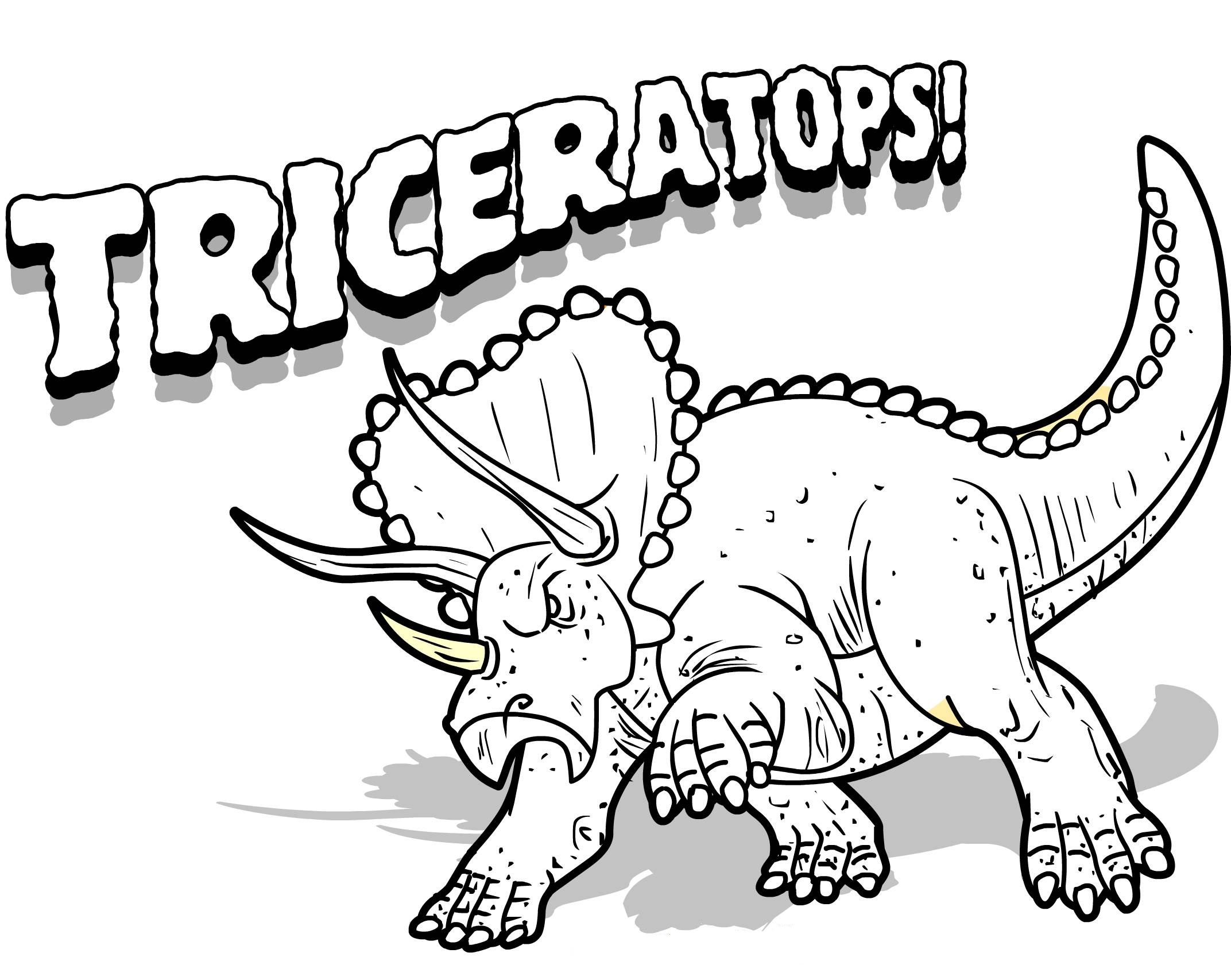 2144x1706 Astounding Dinosaur Coloring Pages With Triceratops Page Inside