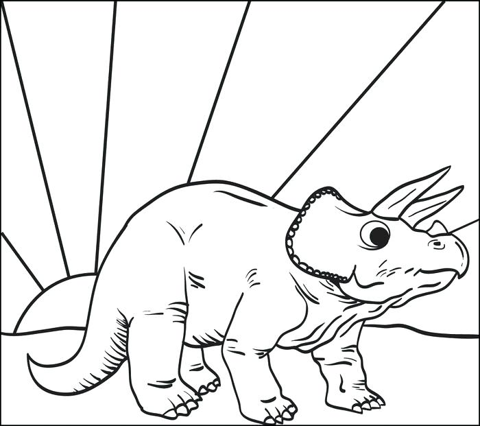 700x621 Triceratops Coloring Page Triceratops Dinosaur Coloring Page
