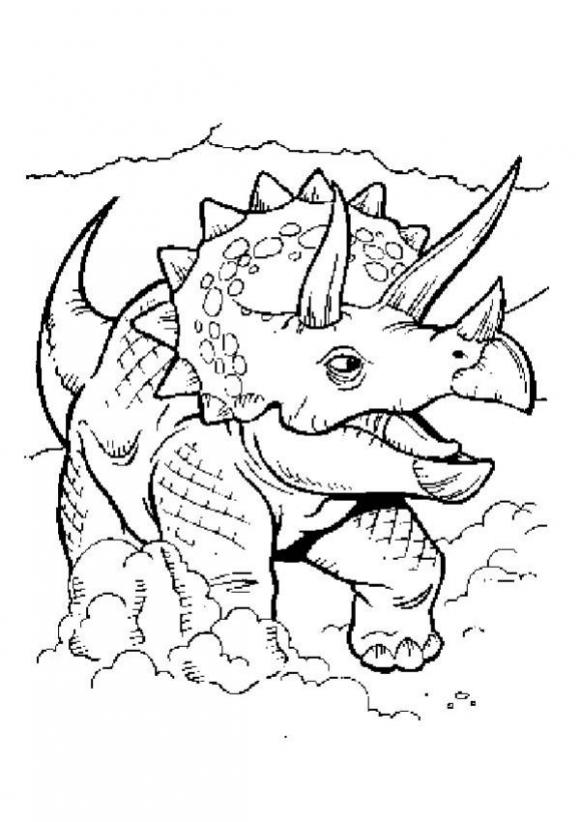 581x822 Triceratops Coloring Pages
