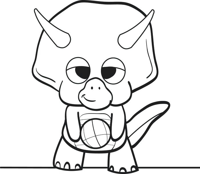 700x609 Baby Triceratops Coloring Page