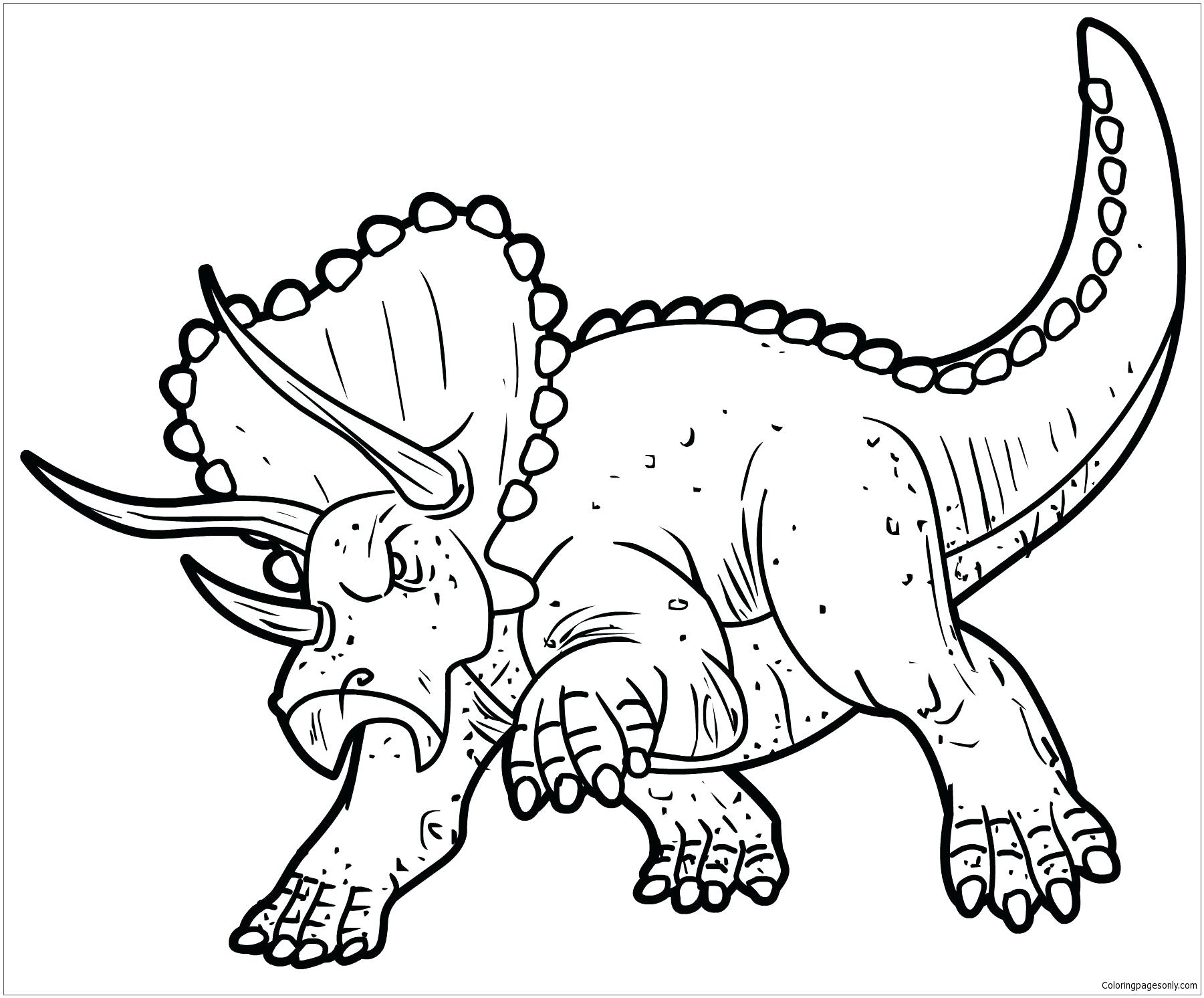 1801x1492 Triceratops Dinosaur Coloring Page Free Pages Online Ammosaurus